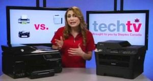 Staples TechTV: Inkjet vs. Laser Printers + How to Download eBooks to Your eReader