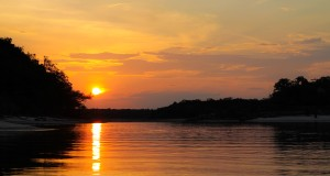 Sunset on the Urubu River - Amazon, Brazil