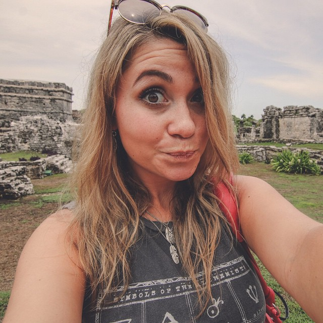 This is my exploration face. Taken exploring the ancient mayan city of Tulum Mexico.  #canyoucancun #mexico #travel #adventure #ruins #tbexcancun