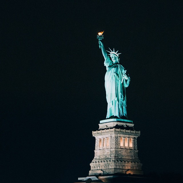 ? America ?? . Taken on my @viatortravel tour of NYC via boat!