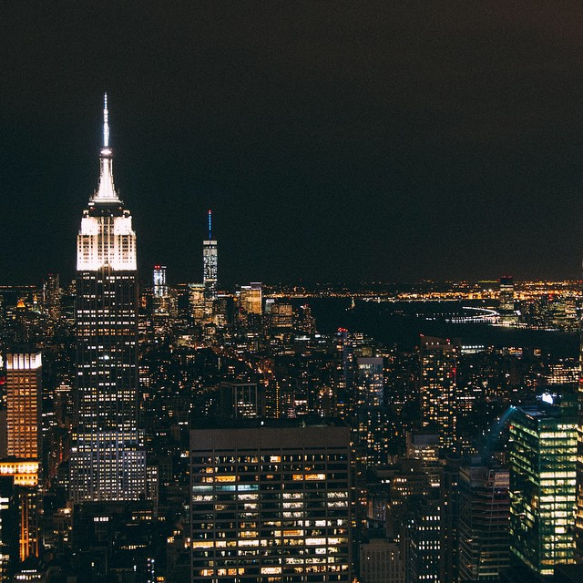Cityscapes ??. Top of the Rock observation deck: absolutely stunning views of Manhattan and beyond! @viatortravel  #city #nighttime #nyc