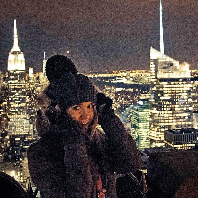 New York at Night. ? My latest travel video with @viatortravel is LIVE click the link in my description to go watch ❤️