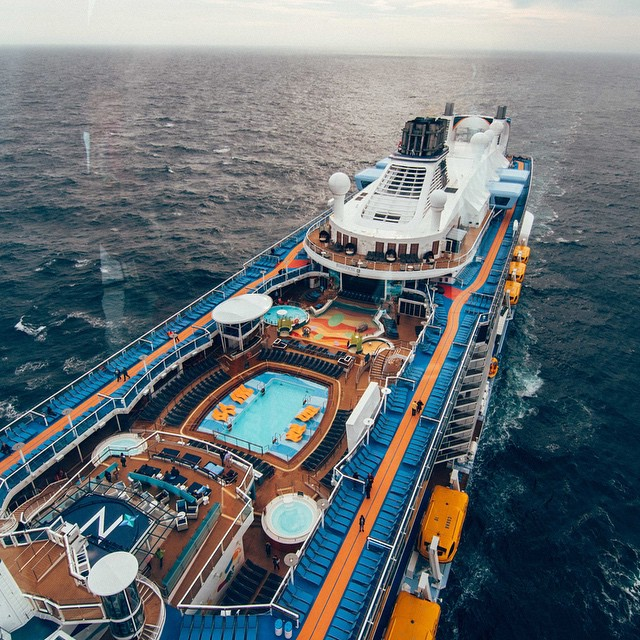 Epic views of the #QuantumoftheSeas from their North Star rotating observation arm.