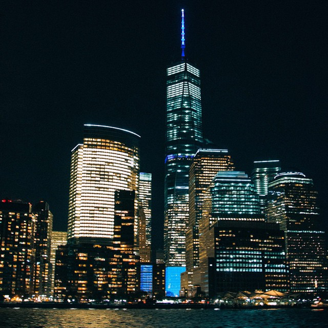 NYC at Night.? Taken via boat on my @viatortravel tour . #travel #cities #nighttime #nyc