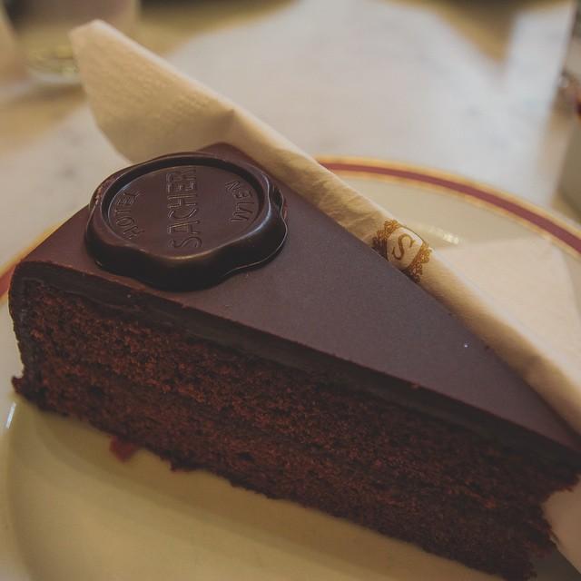 It's been a day of unfortunate circumstances. Time for cake. ? I just wish I had a Sachertorte from Vienna, Austria.. sooo good! #foodie #travel #cake #austria #sachertorte #chocolate #dessert #holidays