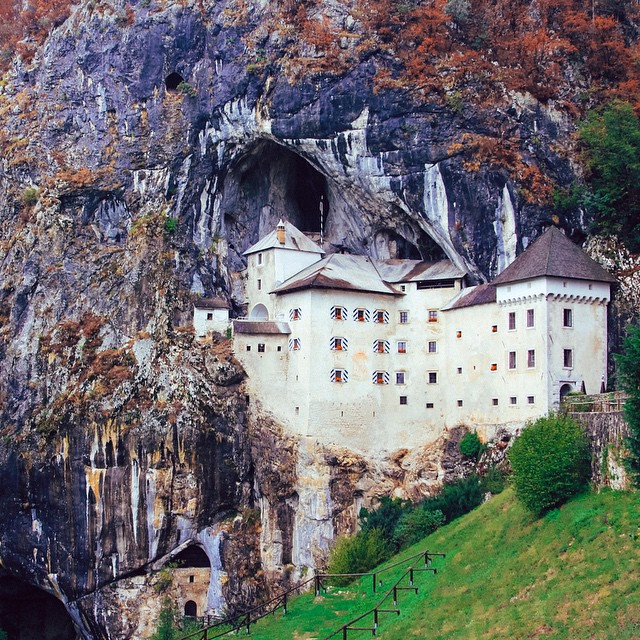 Castle in a Cave, not quite a cloud ? ?☁️. Predjama Castle, Slovenia. #castles #Disney #fairytales #caves #slovenia #magic #travel #europe