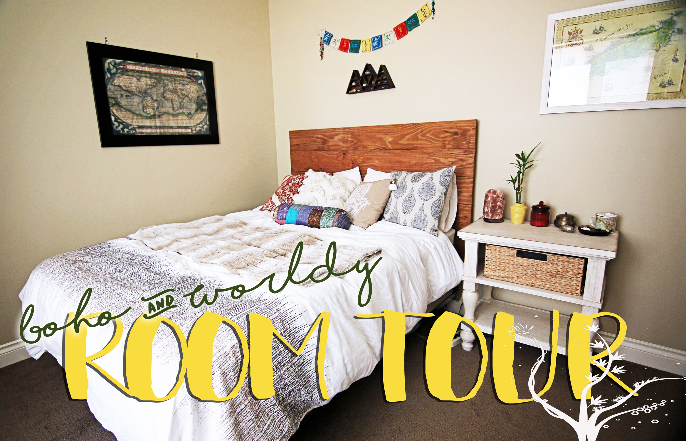 Travel Inspired Guest Room: Boho & World Travel Inspired